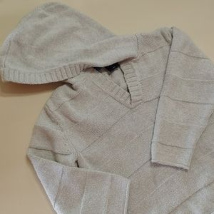 Baby-Gap light gray hooded sweater size 4